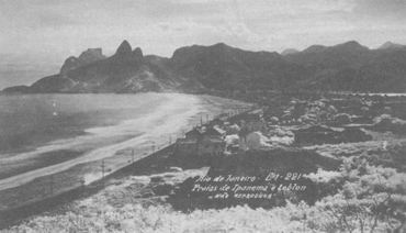 Vista antiga das praias de Ipanema e Leblon - www.portalbrasil.net