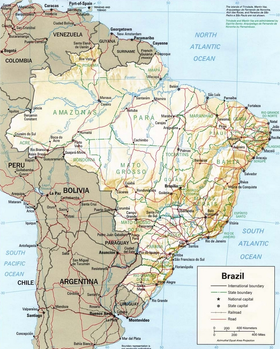 Brasil  transportes e mapa de rodovias
