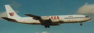 O Boeing 707-321CH da façanha, é o da foto - 1995