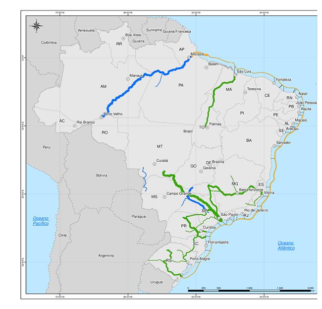 Transporte e Mapa de Rodovias